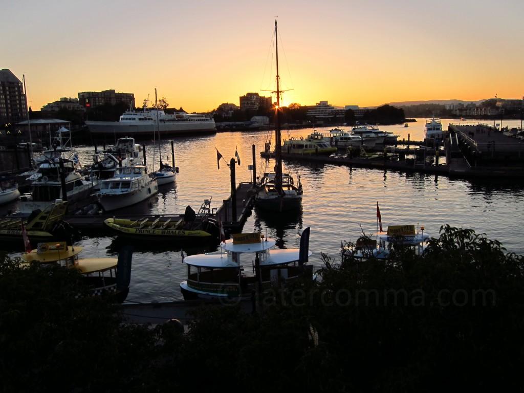 Inner Harbour at sunset