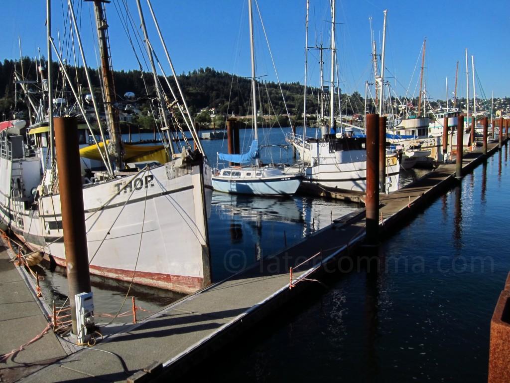 marina at Astoria, Oregon