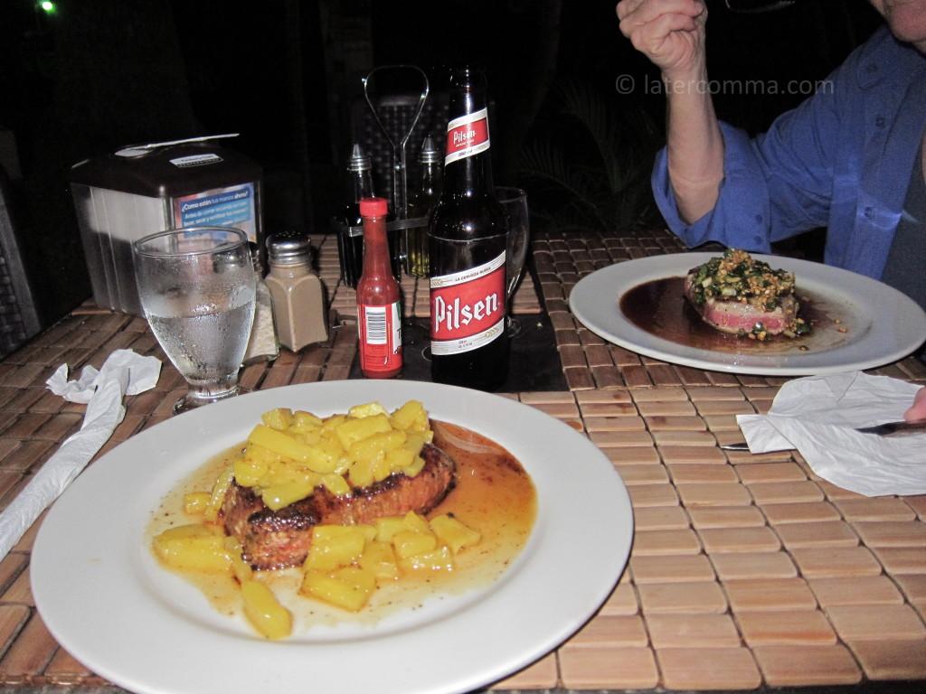 dinner, tuna steaks
