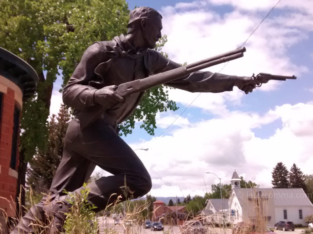 Statue of Nate Champion, Gatchell Historical Museum