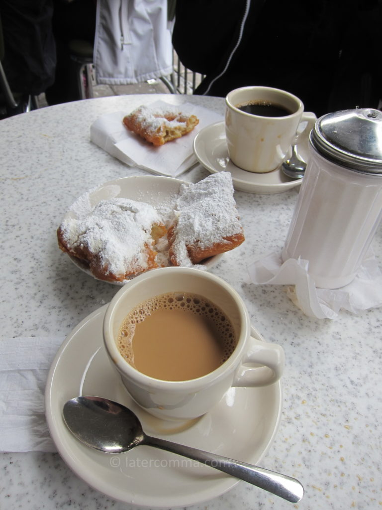 Beignets and coffee.