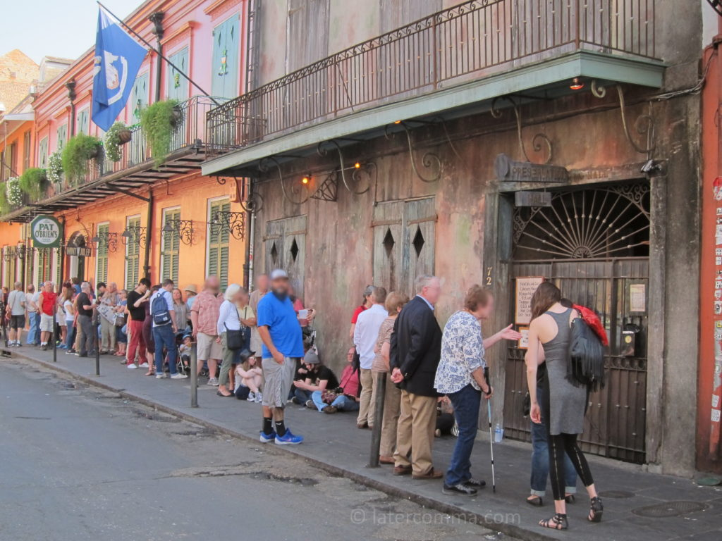 The line at Preservation Hall.