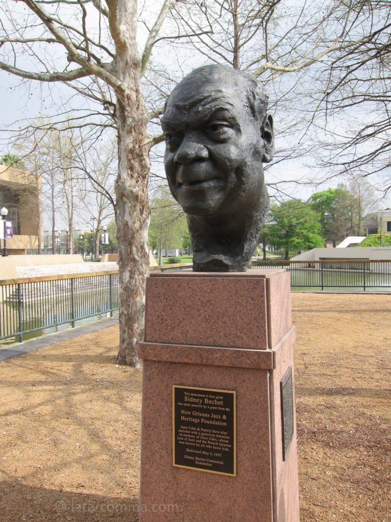 Sidney Bechet sculpture, Louis Armstrong Park