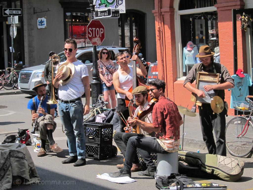 Street band, Royal Street.