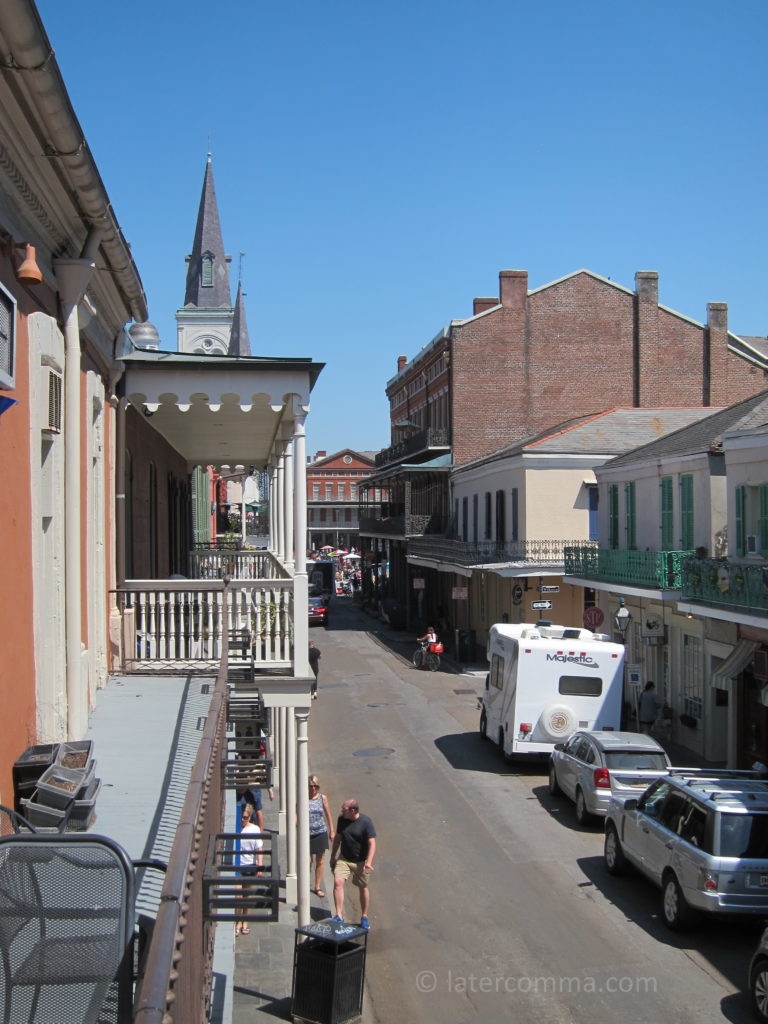 View from the balcony at Chartres House.
