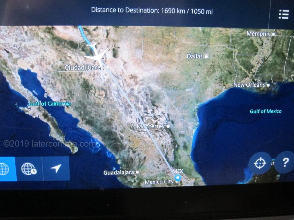 Flight path to Oaxaca.